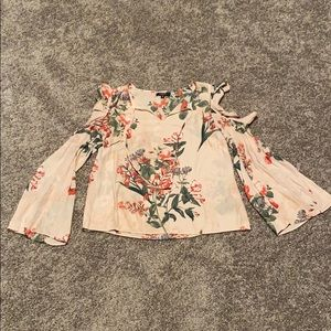 Ladies Cold Shoulder Floral Blouse
